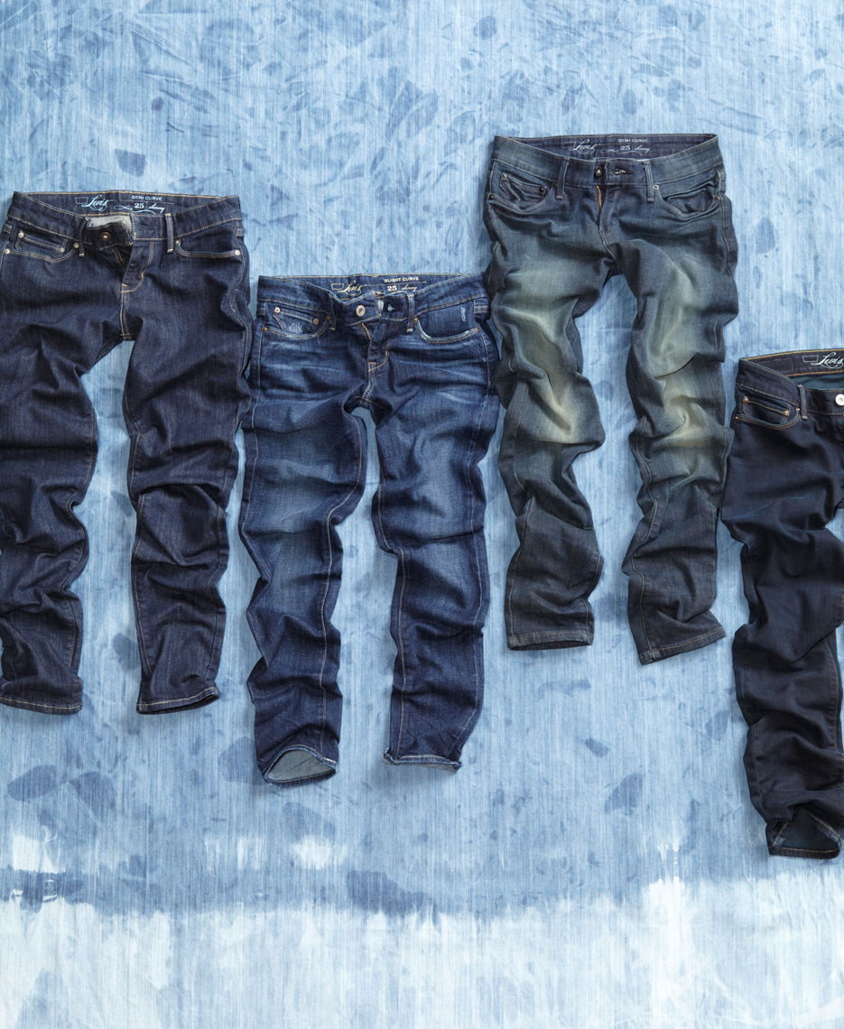 Soft Goods Laydown Photography - Jeans Ripple